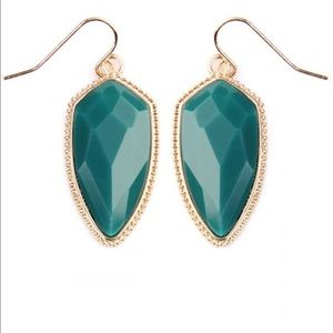 Jill Marie Boutique Jewelry - Turquoise teal statement earrings NWT